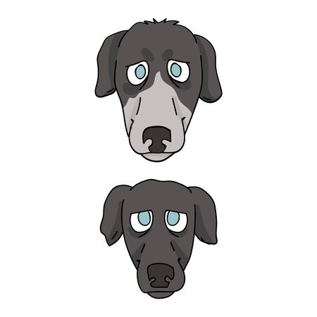 Cute cartoon greyhound breed dog and puppy vector clipart. Pedigree kennel racing hound for dog lovers. Purebred domestic pooch for pet parlor illustration. Isolated fast canine. EPS 10.