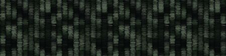 Spliced vector camouflage marl border texture. Variegated mottled ribbon trim. Seamless camo heather pattern. Modern distorted masculine textile trim. Military green fashion disrupted glitch edge.