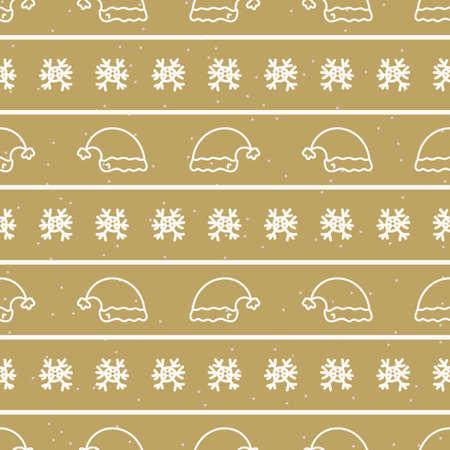Seamless christmas hat stripe holiday background. Simple snow monochrome festive pattern texture. Scandi christmas motif background. Stylish modern seasonal gift wrapping paper.