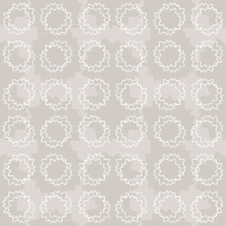 Seamless pattern. Neutral cream polka dot circle background. Elegant minimal off white beige linen texture. Stylish dotty all over print. Ilustração