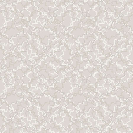 Seamless pattern. Neutral cream scribble background. Elegant minimal off white beige linen texture. Stylish line all over print.