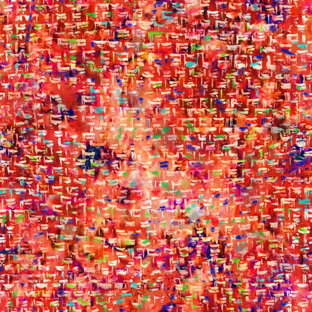 Blurry red painterly watercolor floral collage texture background. Grunge distressed tie dye flower melange seamless pattern. Variegated bright ombre glitch effect all over print. Foto de archivo
