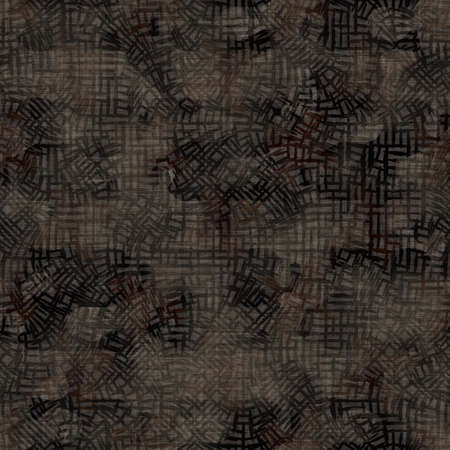 Seamless sepia grunge mottled print texture background. Worn distressed old pattern textile fabric. Grunge rough blur linen all over print