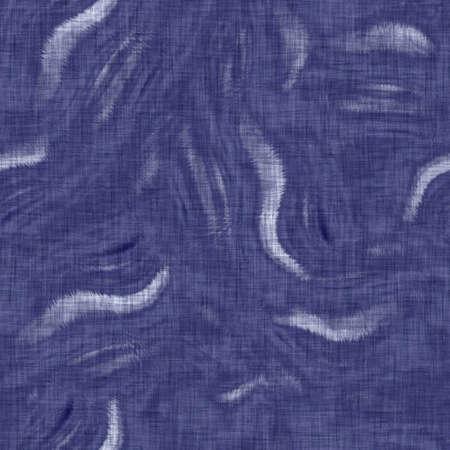 Seamless indigo mottled texture. Blue woven boro cotton dyed effect background. Japanese repeat batik resist pattern. Distressed tie dye bleach. Asian fusion allover kimono textile. Worn cloth print
