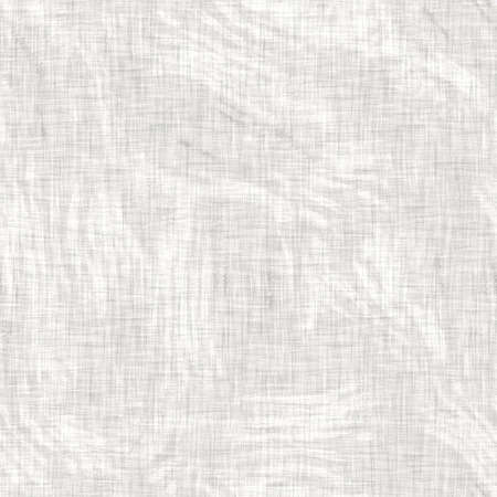 Seamless mottled gray french woven linen texture background. Old ecru natural flax fiber pattern. Organic farmhouse cottage fabric for textile all over print.
