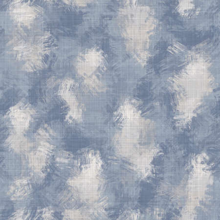 Seamless french farmhouse woven linen stripe texture. Ecru flax blue hemp fiber. Natural pattern background. Organic ticking fabric for kitchen towel material. Pinstripe material allover print 免版税图像