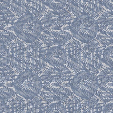 Seamless french farmhouse damask linen pattern. Provence blue white woven texture. Shabby chic style decorative fabric background. Textile rustic all over print 免版税图像