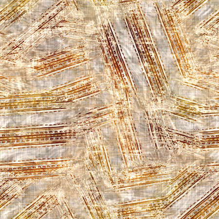Seamless modern sepia brown blockprint collage print. Grunge watercolor texture background. Worn mottled washed out pattern textile fabric. Painterly blur linen all over print Zdjęcie Seryjne