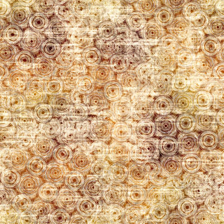 Seamless modern sepia brown blockprint collage print. Grunge watercolor texture background. Worn mottled washed out pattern textile fabric. Painterly blur linen all over print Banco de Imagens