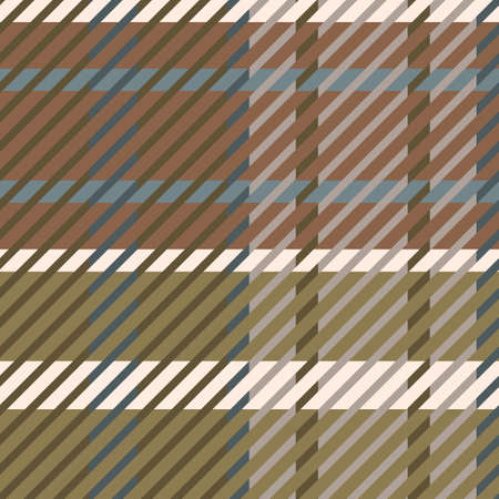 Cute gender neutral tartan vector seamless pattern. Checkered scottish flannel print for celtic home decor. For highland tweed trendy graphic design. Tiled rustic houndstooth grid. 矢量图像