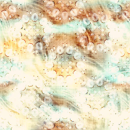 Blurry grunge washed out tie dye texture background. Wavy irregular motion wave seamless pattern. Grunge distorted ink chaos effect. Weathered old and worn distressed all over print