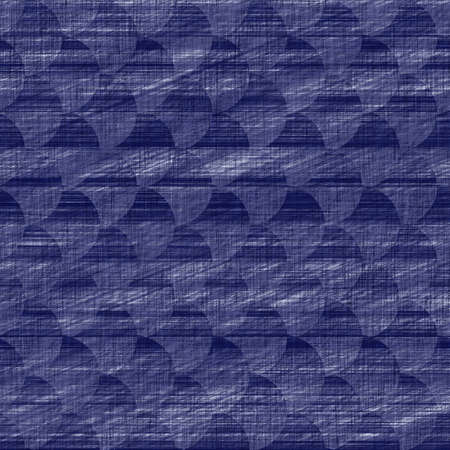 Seamless indigo geometric texture. Navy blue woven geo shape cotton dyed effect background. Japanese repeat batik resist abstract motif pattern. Asian fusion all over textile blur cloth print. Stock fotó