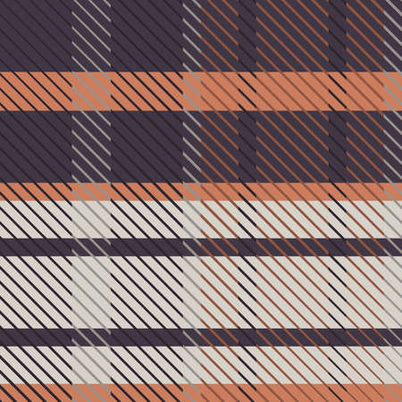Cute gender neutral vector seamless pattern. Checkered scottish flannel print for celtic home decor. For highland tweed trendy graphic design. Tiled rustic houndstooth grid.