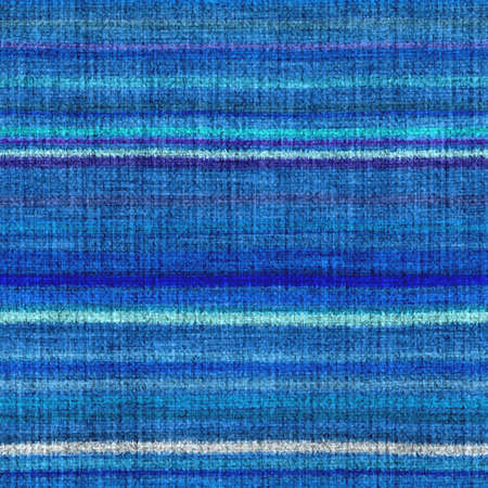 Variegated multicolor horizontal tapestry stripe woven texture. Space dyed watercolor effect knit striped background. Fuzzy thin grungy textile material. Tufted boucle carpet rug fabric effect.
