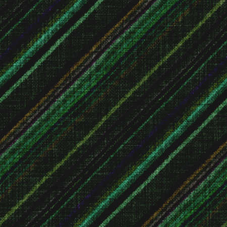 Variegated multicolor diagonal tapestry stripe woven texture. Space dyed watercolor effect knit striped background. Fuzzy thin grungy textile material. Tufted boucle carpet rug fabric effect.