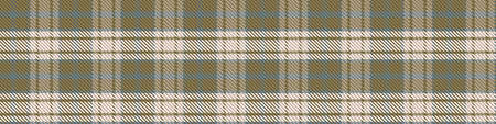 Seamless background gingham tartan fabric gender neutral border. Simple traditional highland flannel print banner. Scottish retro plaid edging fashion trim.