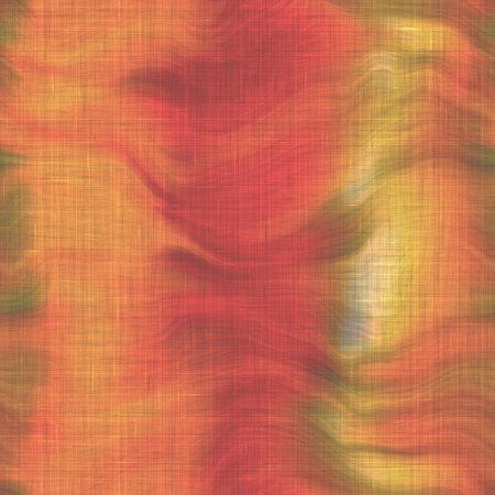 Variegated tie dye retro texture background. Seamless textile linen pattern effect. Striped blur grunge print. Washed out melange blotch backdrop. 免版税图像