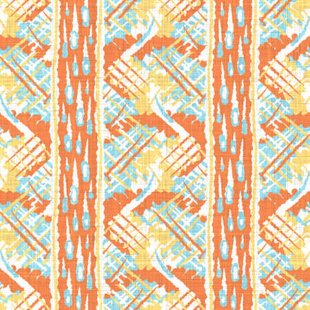 Watercolor melange stripe texture background. Hand drawn irregular abstract line seamless pattern. Modern linen textile for spring ombre home decor. Decorative scandi striped doodle all over print. 免版税图像