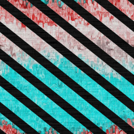 Marbled rustic blotch stripe woven pattern background. Worn blue red grunge abstract resist. Diagonal striped   tile material. Decorative digital faded distressed blur all over print.