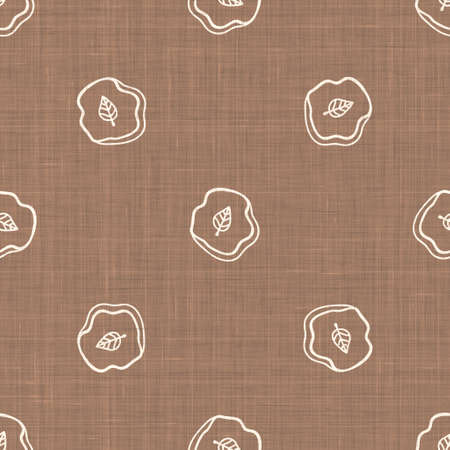 Seamless background leaf fossil gender neutral baby pattern. Simple whimsical minimal earthy 2 tone color. Kids nursery wallpaper or boho cartoon animal fashion all over print.
