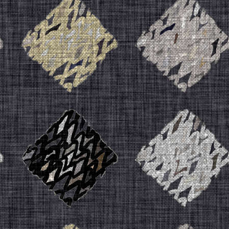 Rustic mottled charcoal grey french linen woven texture background. Worn neutral old vintage cloth printed fabric textile. Distressed all over print . Irregular uneven stained rough grunge effect. Archivio Fotografico