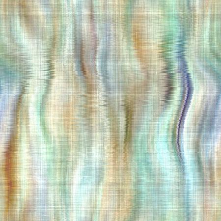 Variegated tie dye retro texture background. Seamless textile linen pattern effect. Striped blur grunge print. Washed out melange blotch backdrop.