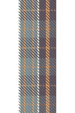 Cute gender neutral seemless vertical border pattern. Checkered scottish flannel print for celtic home decor. For highland tweed trendy graphic design. Tiled rustic edging grid.