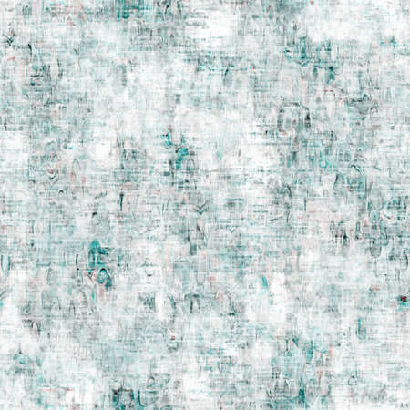 Mottled grunge blotch peeling wall pattern background. Worn aqua blue grey rustic repeat swatch. Seamless stucco plaster rough aging tile material. Decorative faded distressed blur all over print