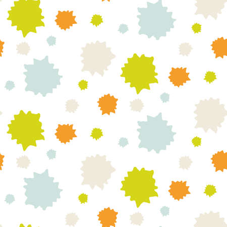 Summer tropical circle seamless pattern. Bright retro geo dot for digital scrapbook paper and repeat kid design. Fun masculine shirt textile swatch in vector.