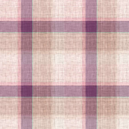 Knit wool plaid background pattern. Traditional warm checkered handmade stitch texture effect. Seamless masculine tweed effect fabric. Melange winter   all over print. Archivio Fotografico