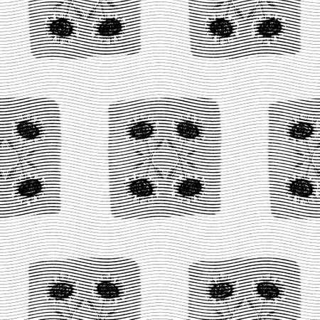 Seamless floral black white woven herringbone style texture. Two tone 50s monochrome pattern. Modern textile weave effect. Masculine broken line repeat jpg print.