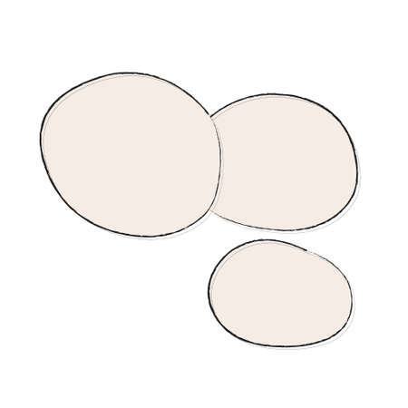 Round white shiny mozzarella cheese. Simple icon with a popular food. Ingredient for pizza recipe, salad. Illustration for menu, cookbook. Clipart grocery store window design, food catalog, sticker Vetores