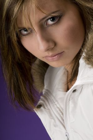 Young fashion model looking cool Stock Photo - 3787837