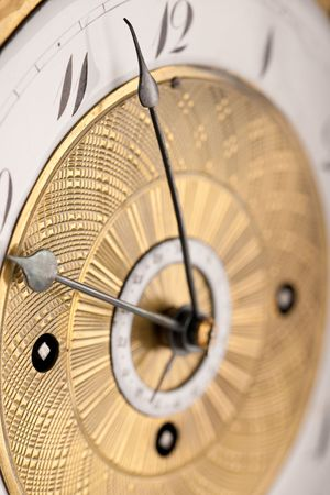 arabic numeral: Detail of antique clock with Arabic numeral, macro lens