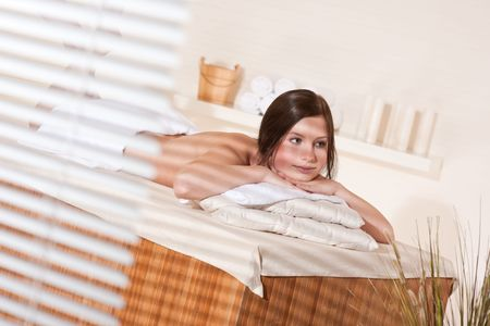Spa - Young woman at wellness therapy massage treatment Stock Photo - 7180809