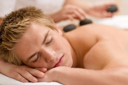 lastone: Lastone therapy - man at luxury massage in spa center