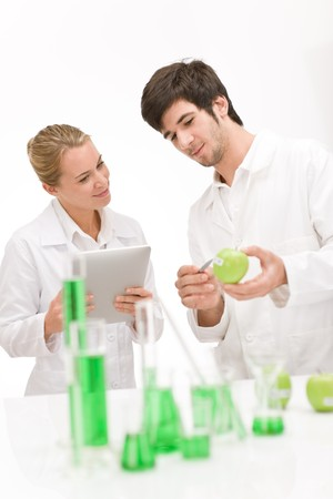 Genetic engineering - scientists in laboratory, GMO testing experiment Stock Photo - 8022874