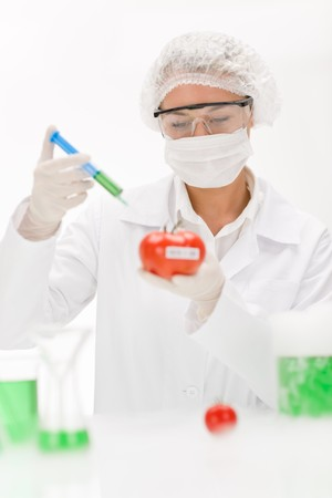 Genetic engineering - scientists in laboratory, GMO testing experiment Stock Photo - 8022866