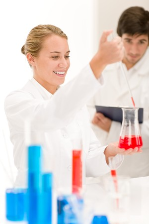 Scientists in laboratory - test virus vaccination Stock Photo - 8029283