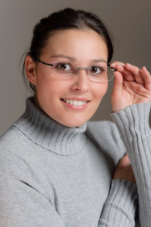 Designer glasses - portrait of successful architect woman Stock Photo - 8575202