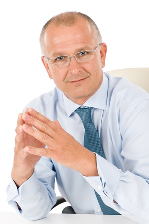 Happy successful mature businessman professional look isolated portrait Stock Photo - 9682610