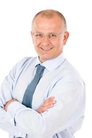 consultant: Happy successful mature businessman professional look isolated portrait