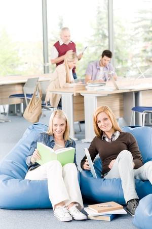 Students and professor - education and learning at high school or university photo