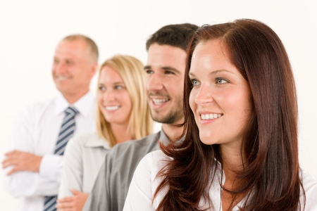 Business team professional people profile view looking aside bright future photo