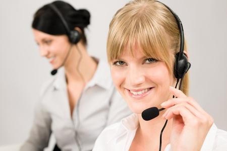 helpline: Customer service team woman call center smiling operator phone headset
