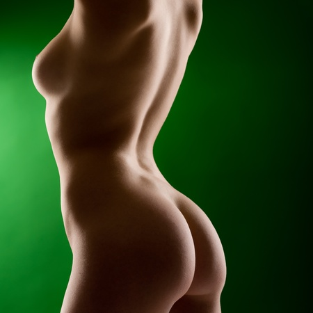Sexy woman body naked back and bottom side view Stock Photo - 12343685