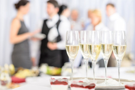 Aperitif champagne for business meeting conference participants Stock Photo - 13751203