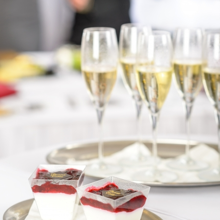 Champagne toast glasses for business meeting conference participants Stock Photo - 13831791