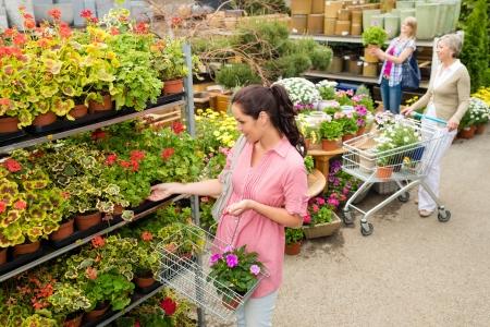 gamme de produit: Femme fleur en pot acheter dans le centre commercial � effet de serre de jardin panier