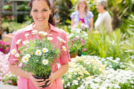 Woman shopping at flower shop green house garden centre Stock Photo - 14547963